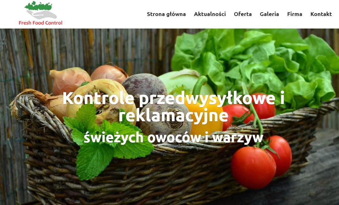 Strona Internetowa dla firmy Fresh Food Control