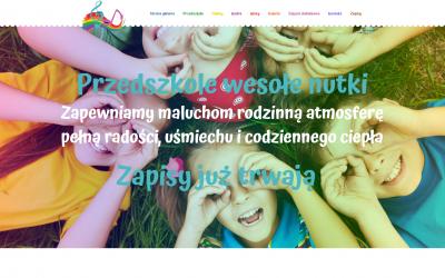 Realizacja strony internetowej oraz logo dla przedszkola w Grodzisku Mazowieckim.