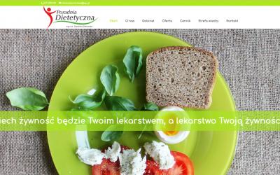 Realizacja strony internetowej dla nowo otwartej poradni dietetycznej w Żyrardowie.